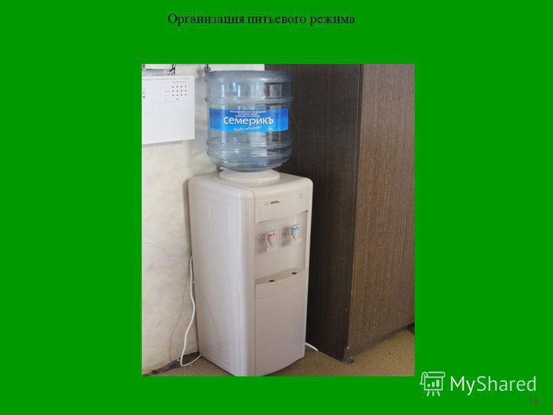 19 Организация питьевого режима