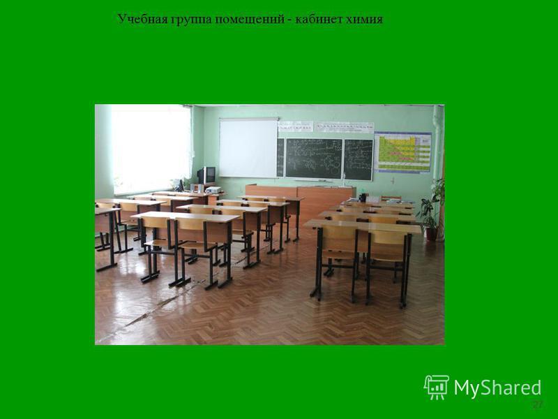 27 Учебная группа помещений - кабинет химия
