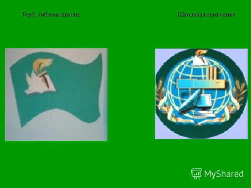 29 Герб, эмблема школы Школьная символика
