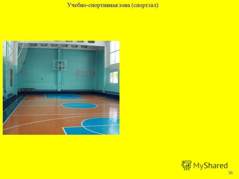 36 Учебно-спортивная зона (спортзал)