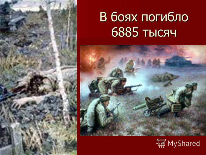 В боях погибло 6885 тысяч