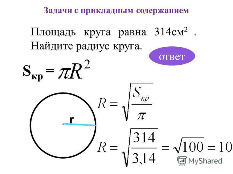 Задачи с прикладным содержанием Кирпич падает с высоты 10 м. С какой скоростью он упадет на Землю? Справка: Скорость свободного падения тела связана с высотой падения формулой где g – ускорение свободного падения 9,81 м/с 2. ответ