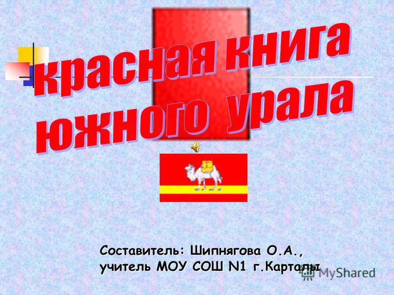 Составитель: Шипнягова О.А., учитель МОУ СОШ N1 г.Карталы