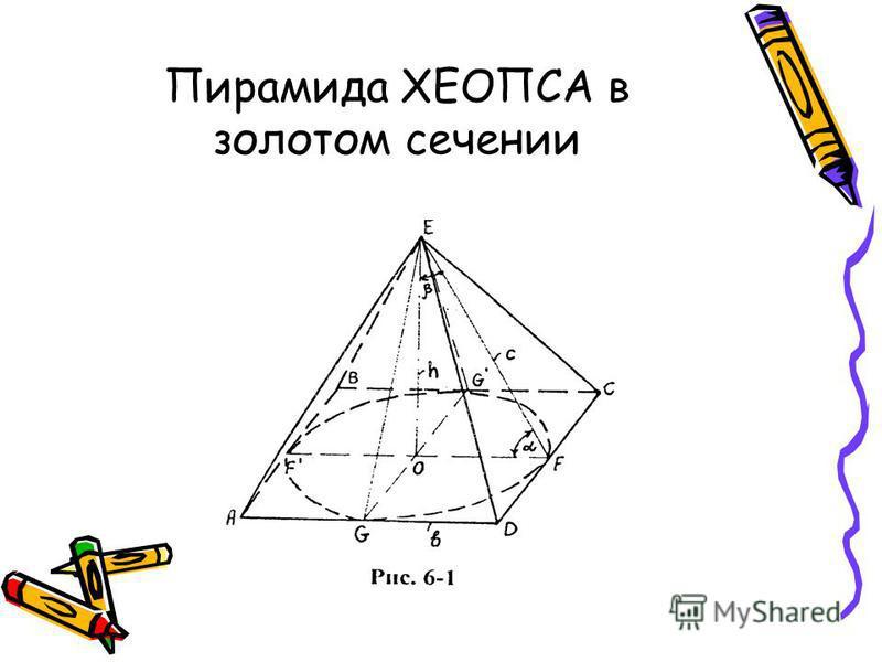 Пирамида ХЕОПСА в золотом сечении