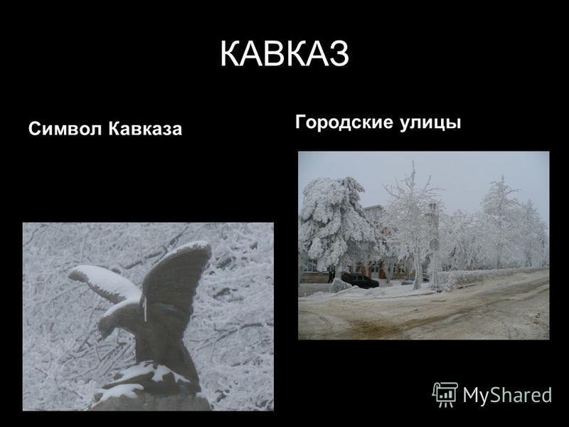 КАВКАЗ Символ Кавказа Городские улицы