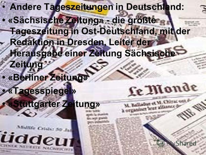 bundesdeutsche zeitung herausgeber