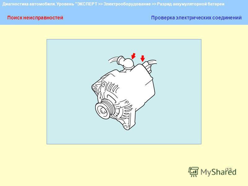 Диагностика автомобиля. Уровень ЭКСПЕРТ >> Электрооборудование >> Разряд аккумуляторной батареи (1/1) Поиск неисправностей Проверка электрических соединений
