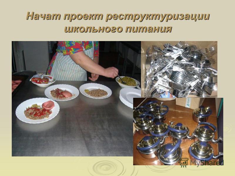 Начат проект реструктуризации школьного питания