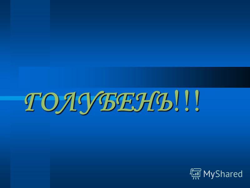 ГОЛУБЕНЬ!!!