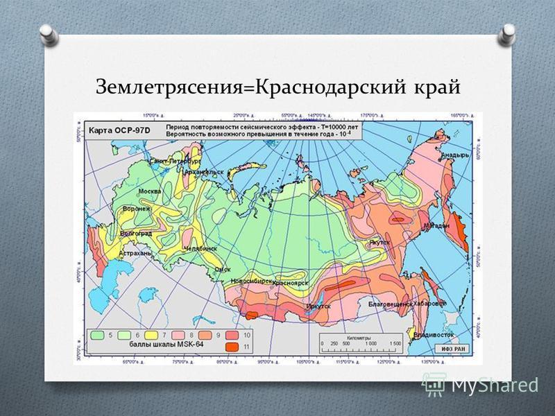 Землетрясения=Краснодарский край