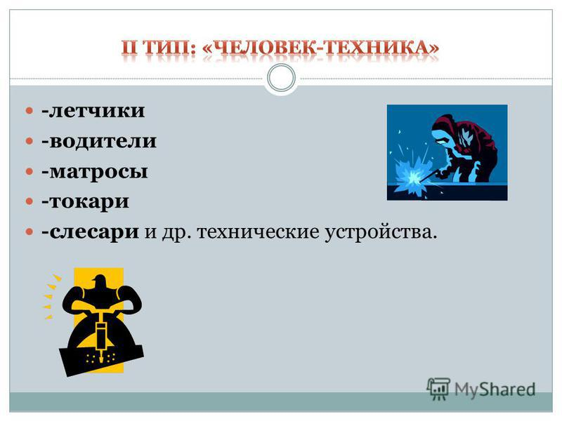 -летчики -водители -матросы -токари -слесари и др. технические устройства.
