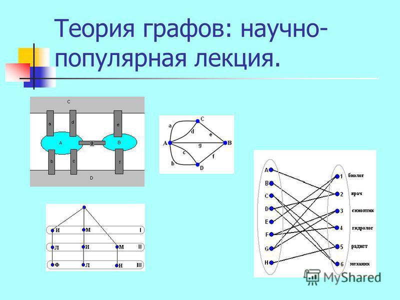 Теория графов: научно- популярная лекция.