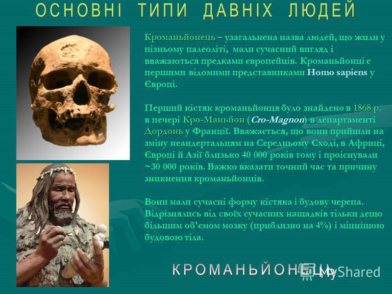 Основні стоянки неандертальця