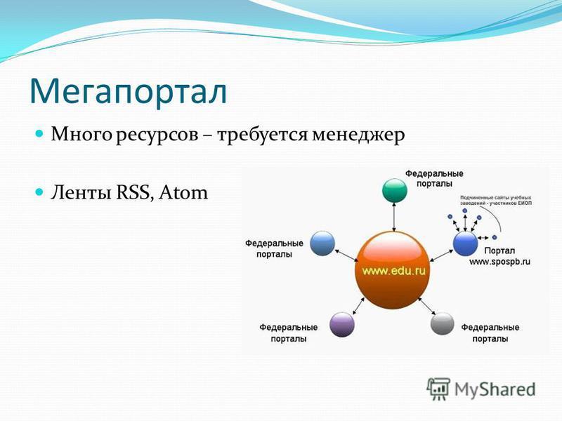 Мегапортал Много ресурсов – требуется менеджер Ленты RSS, Atom