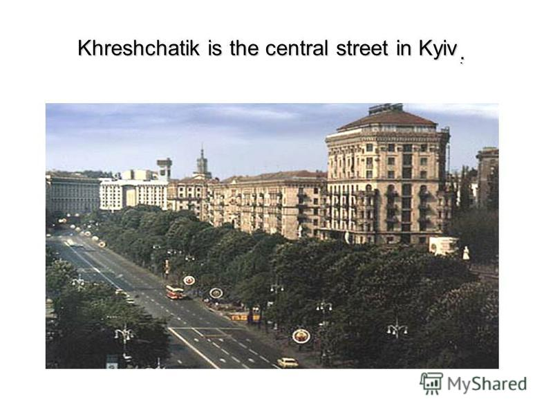 Khreshchatik is the central street in Kyiv..