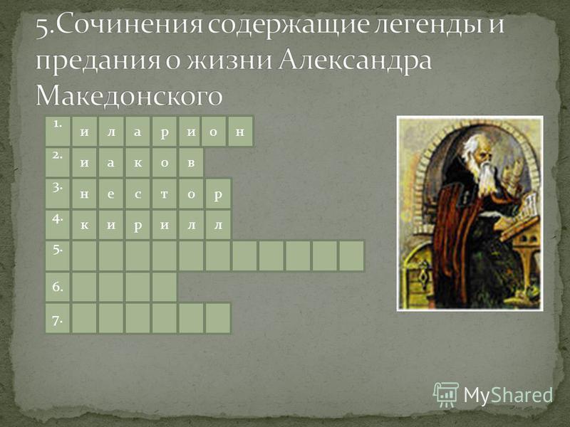 1. иларио окаи 2. тсен 3. ирик 4. л 5. 6. 7. н в ор л
