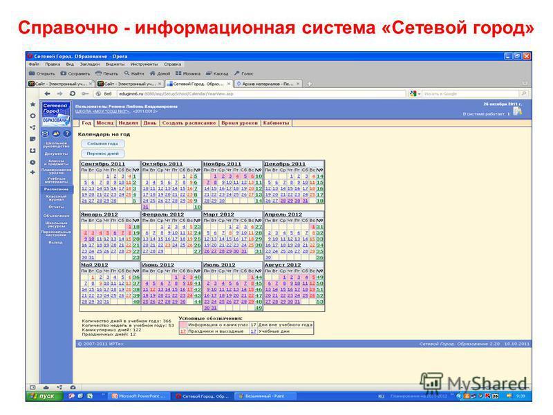 Справочно - информационная система «Сетевой город»