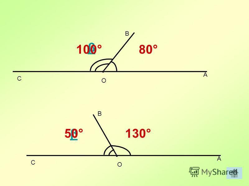 A B C 80° β A B C 130°β 100° 50° O O
