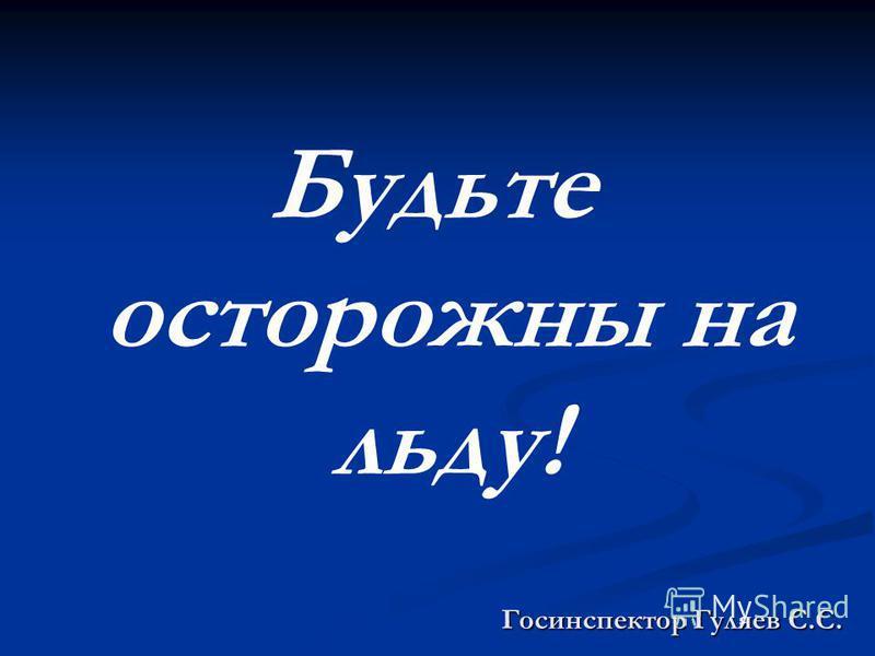 Госинспектор Гуляев С.С. Будьте осторожны на льду!