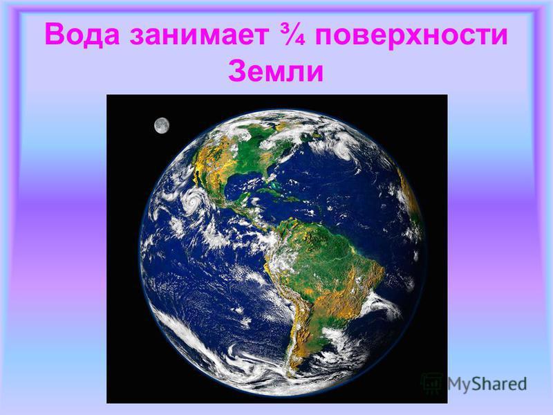 Вода занимает ¾ поверхности Земли