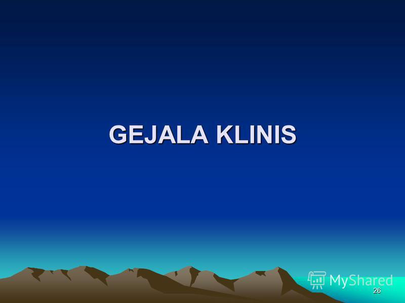 26 GEJALA KLINIS