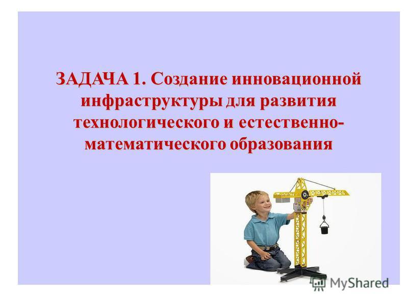 ЗАДАЧА 1. Создание инновационной инфраструктуры для развития технологического и естественно- математического образования