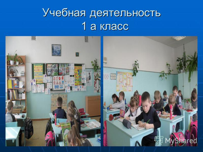 Учебная деятельность 1 а класс