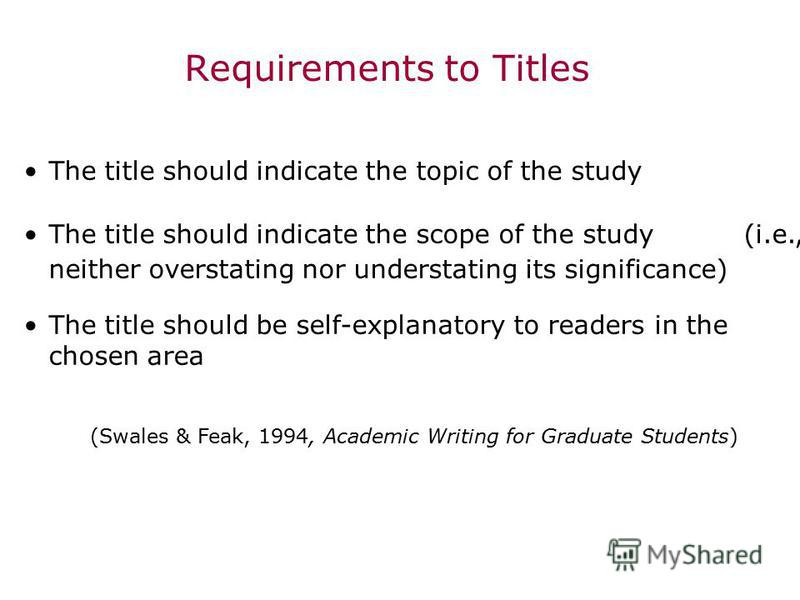 english research paper titles