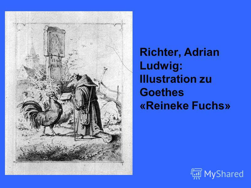 Richter, Adrian Ludwig: Illustration zu Goethes «Reineke Fuchs»
