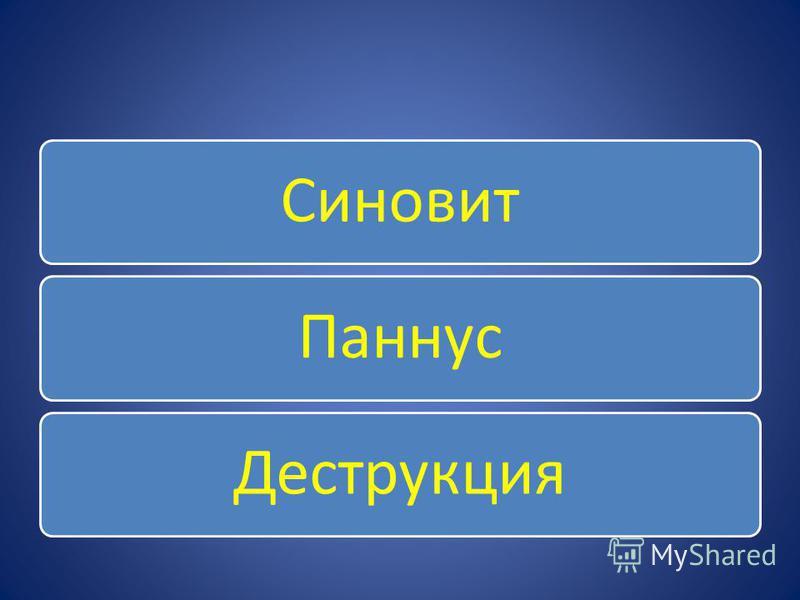 Синовит ПаннусДеструкция