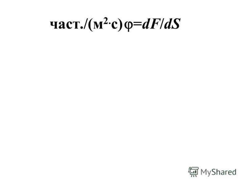 част./(м 2. с) =dF/dS