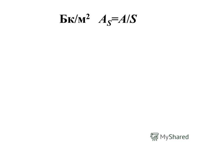 Бк/м 2 A S =A/S