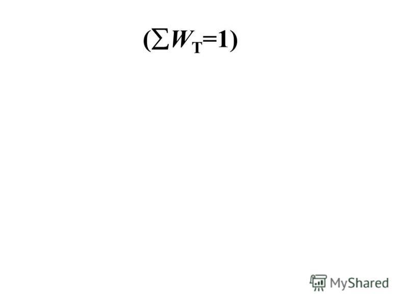 ( W T =1)