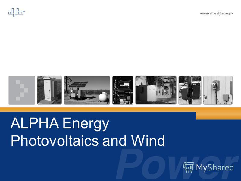 ALPHA Energy Photovoltaics and Wind