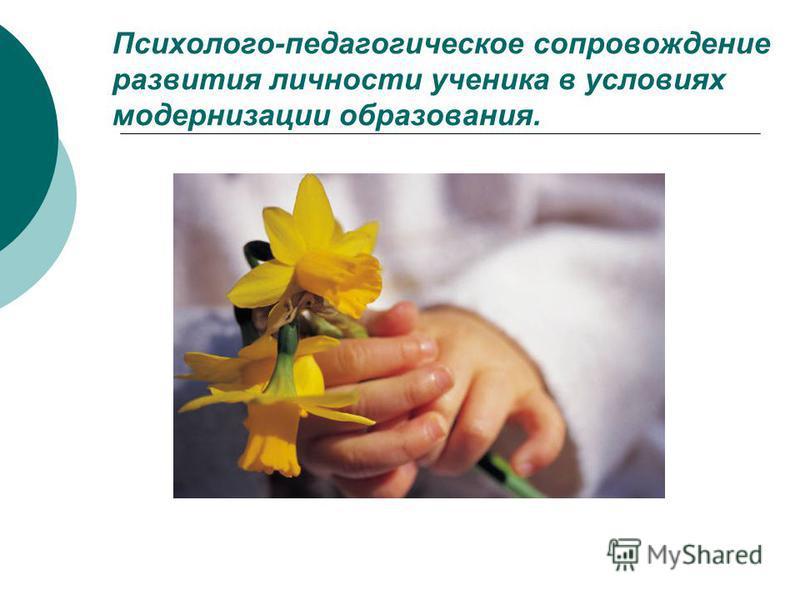 Психолого-педагогическое сопровождение развития личности ученика в условиях модернизации образования.