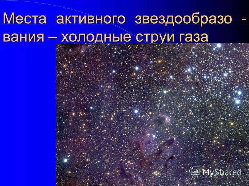 Места активного звезда образования – холодные струи газа