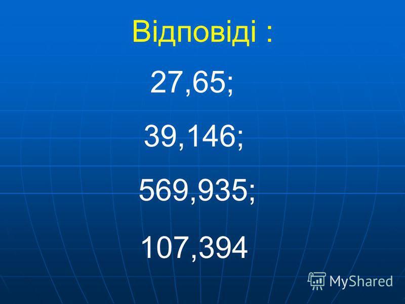 5,73 + 9,42 + 12,5; 3,084 + 16,352 + 19,71; 16,47 + 53,924 + 37 543,15 + 14,085 + 12,7; Обчислити :