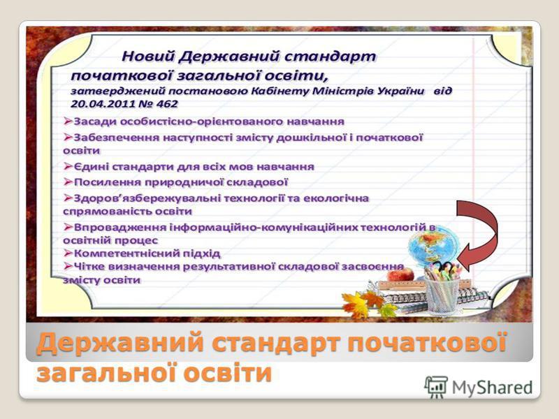 Державний стандарт початкової загальної освіти