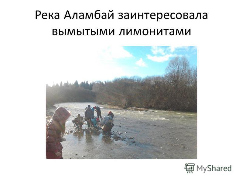 Река Аламбай заинтересовала вымытыми лимонитами