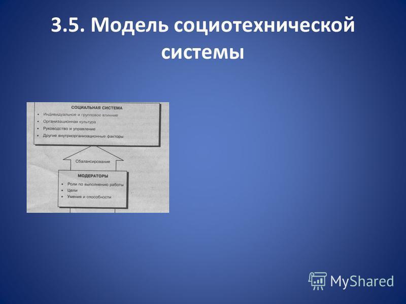3.5. Модель социотехнической системы