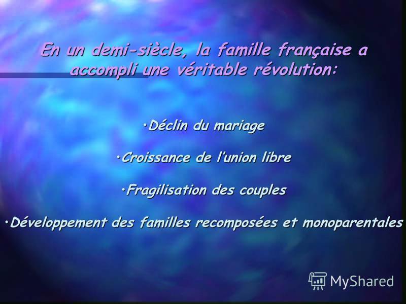 La famille française aujourd`hui