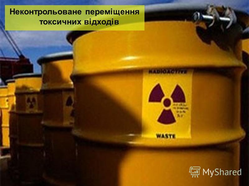 Неконтрольоване переміщення токсичних відходів