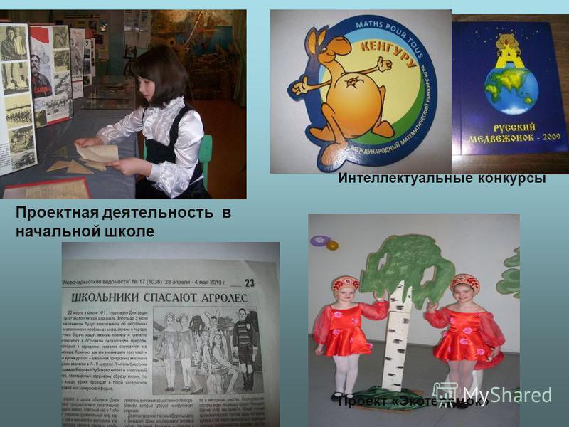 Интеллектуальные конкурсы Проектная деятельность в начальной школе Проект «Экотеремок»
