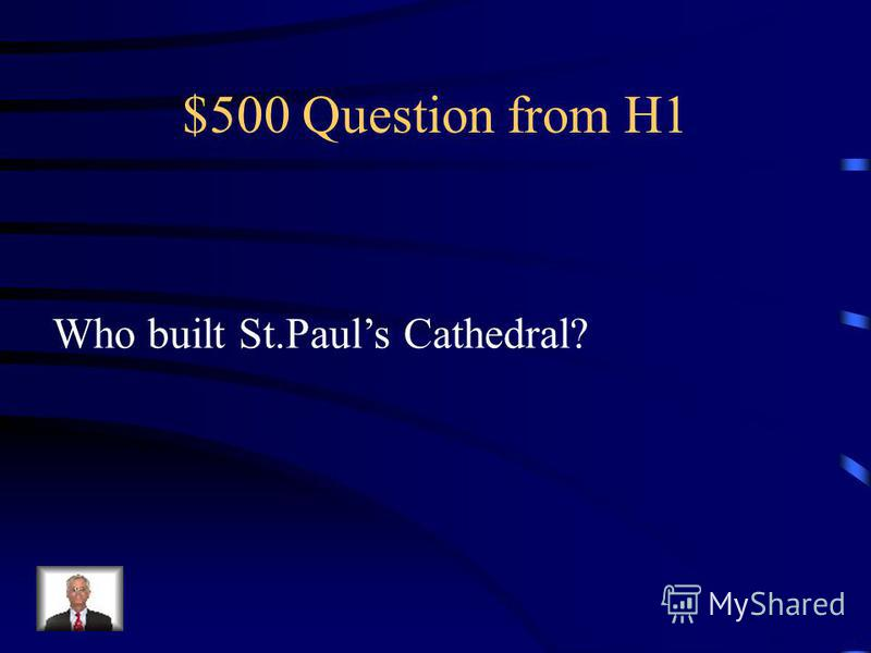 $400 Answer from H1 William the Conqueror
