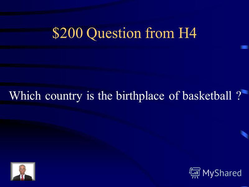 $100 Answer from H4 Sydney, Australia
