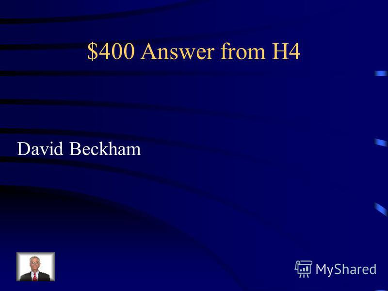 $400 Question from H4 Who is the richest football player in the world ?