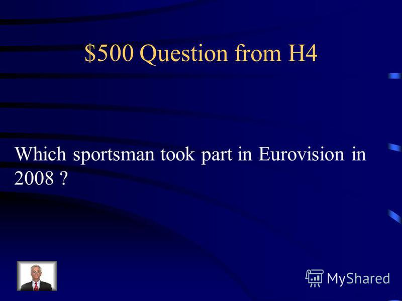 $400 Answer from H4 David Beckham