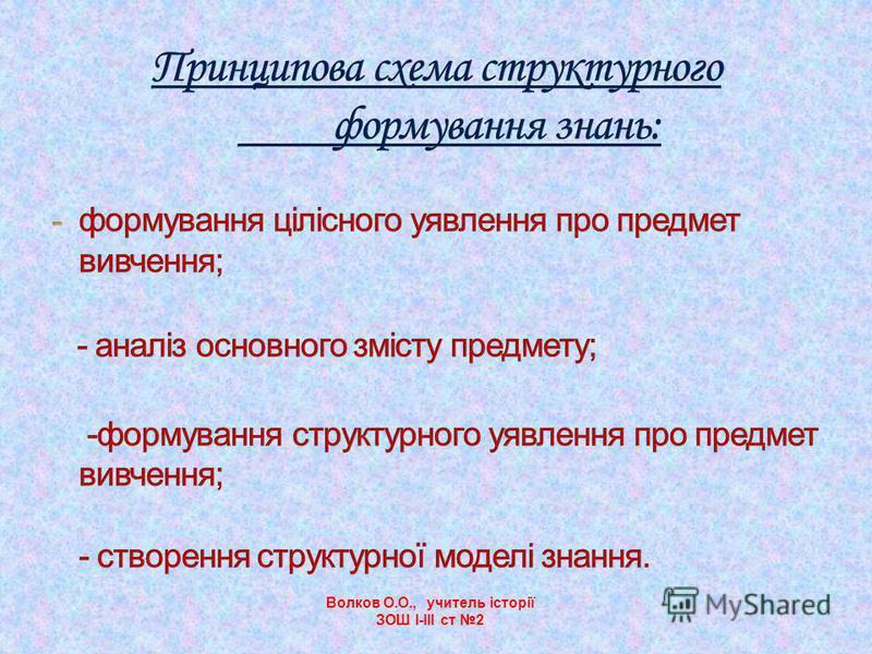 Волков О.О., учитель історії ЗОШ І-ІІІ ст 2