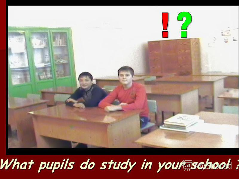 What pupils do study in your school ? –..\ Мо и до ку ме нFr am e - 0.b mp..\ Мо и до ку ме нFr am e - 0.b mp..\ Мо и до ку ме нFr am e - 0.b mp ты\VTS_01_1ты\VTS_01_1 ты\VTS_01_1ты\VTS_01_1