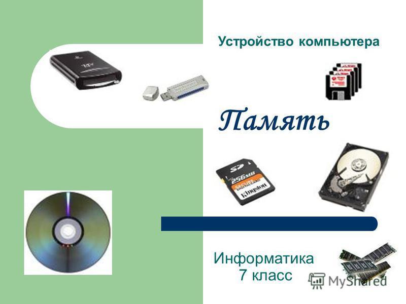 Память Информатика 7 класс Устройство компьютера